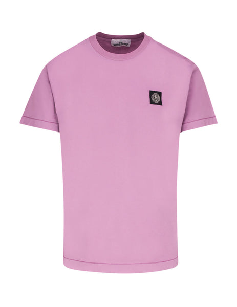 Stone Island Men's Rose Quartz 24113 Cotton T-Shirt 721524113 V0086