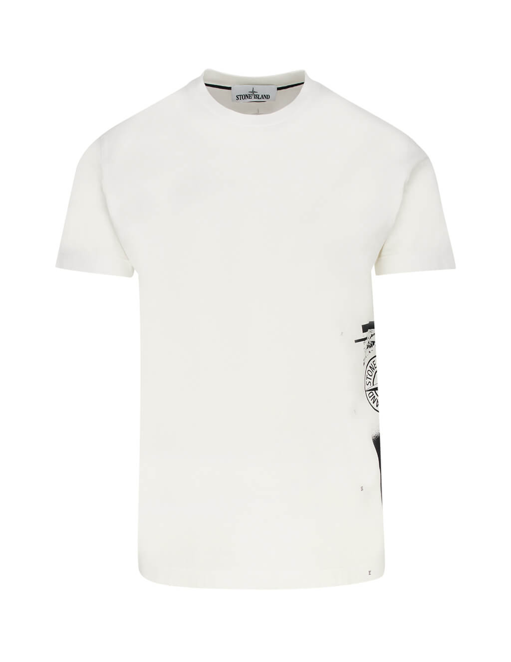 Stone Island Men's Ivory 2NS83 Graphic Cotton T-Shirt 72152NS83 V0093