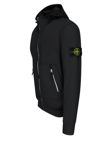 Stone Island Black 40727 Shell-R Hooded Jacket 741540727 V0029