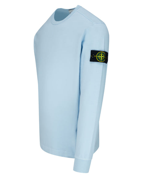 Men's Stone Island 64450 Crewneck Fleece Sweatshirt in Sky Blue - 741564450 V0041