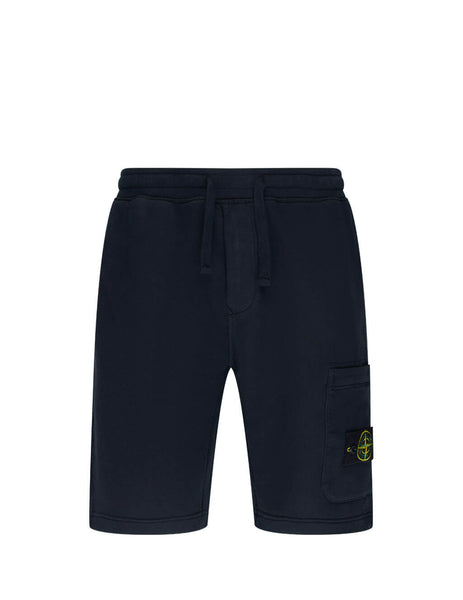 Men's Navy Stone Island 64620 Fleece Shorts 731564620 V0020
