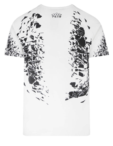 Men's Stone Island Shadow Project 20610 Printed SS Catch Pocket T-Shirt in White - 741920610 V0099