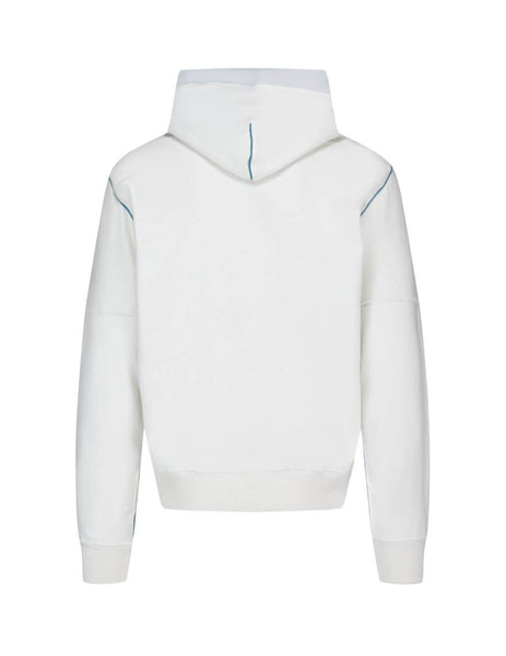 Men's White Stone Island Shadow Project 60208 Compact Hoodie Sweatshirt 721960208 V0099