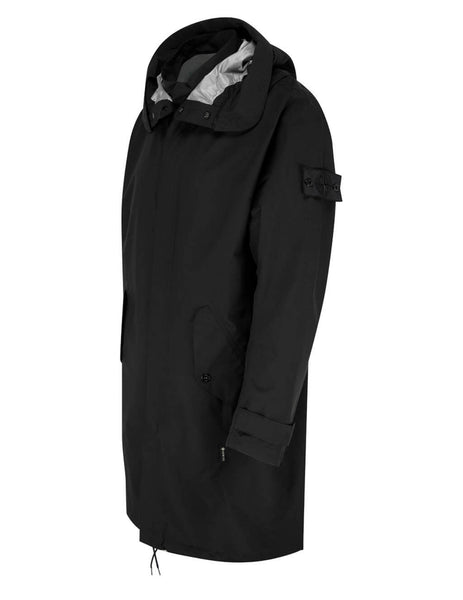 Men's Stone Island Shadow Project 70401 Oversized Fishtail Parka in Black - 741970401 V0029