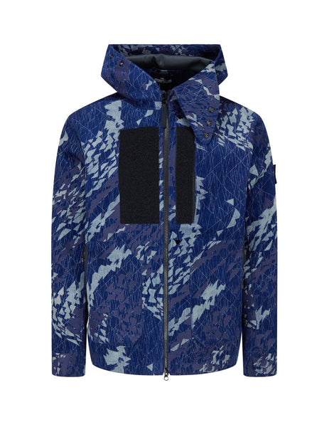 Men's Indigo Blue Stone Island Shadow Project 402I4 Coat 7319402I4 V0021