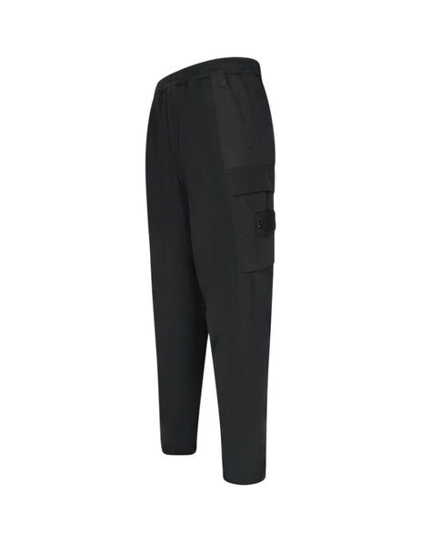 Stone Island Men's Giulio Fashion Black 312F2 Ghost Piece Trousers 7115312F2V0029