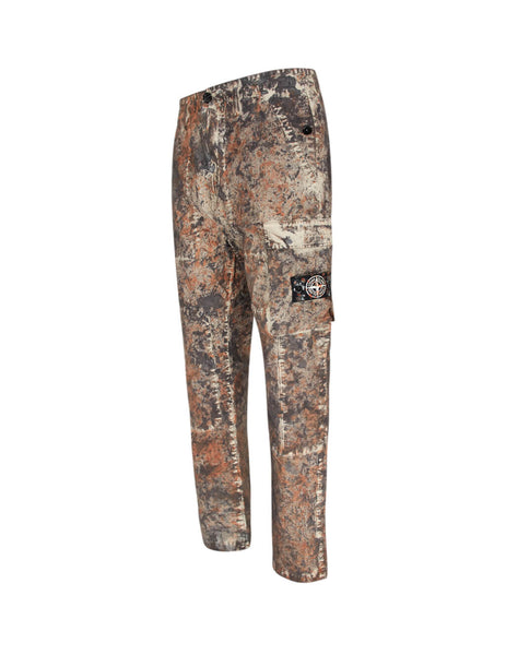 Stone Island Men's Giulio Fashion Dark Brown 322PA Paintball Camo Trousers 7115322PAV0070