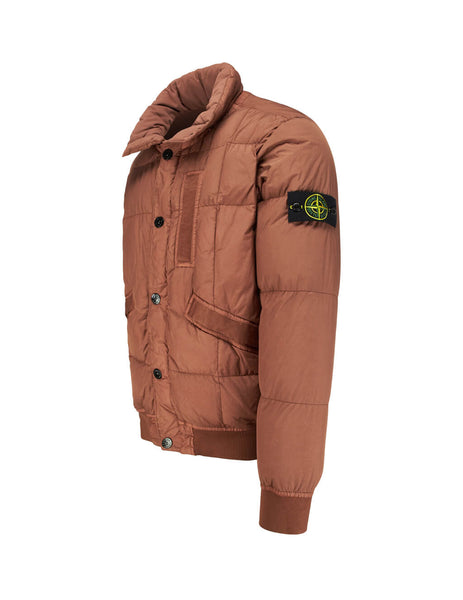 Stone Island Men's Rust 40123 Crinkle Reps NY Down Jacket 711540123V0013