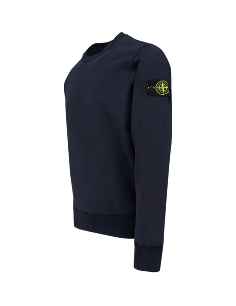 Stone Island Men's Giulio Fashion Navy Blue 63051 Crew Neck Sweatshirt 721563051 V0020
