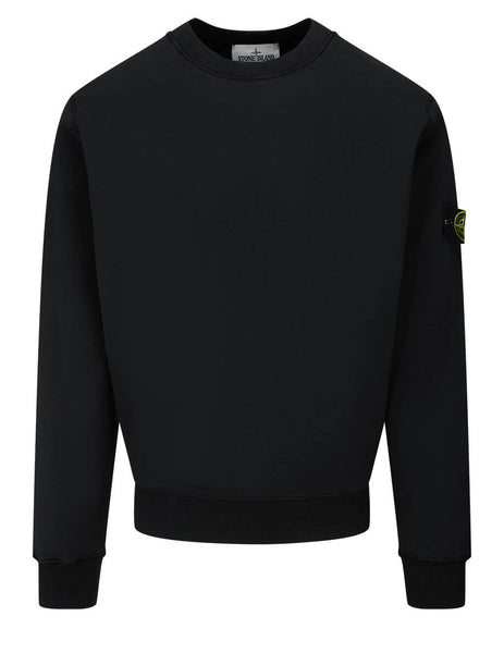 Men's Stone Island 63051 Crewneck Sweatshirt in Black - 741563051 V0029