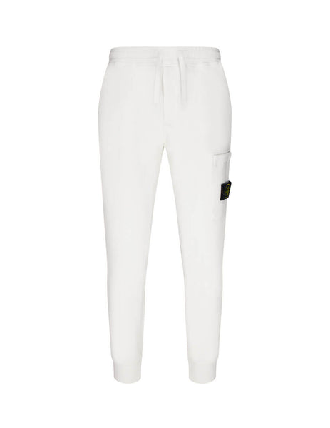 Stone Island Men's Giulio Fashion White 64520 Fleece Sweatpants 731564520 V0001