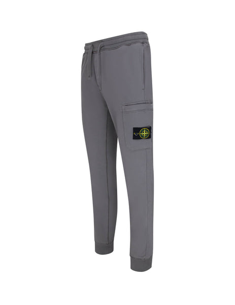 Men's Blue Grey Stone Island 64551 Fleece Pants 721564551 V0063