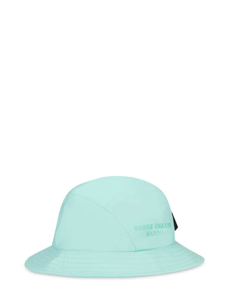 Men's Stone Island Marina 999X6 Cotton Nylon 3L Bucket Hat in Aqua - 7415999X6 V0044