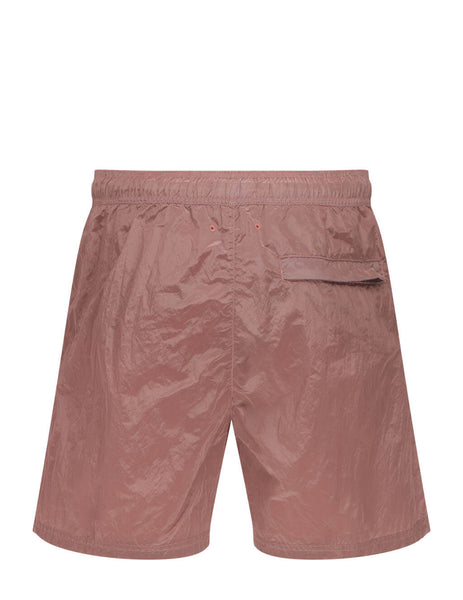Men's Stone Island B0943 Nylon Metal Swim Shorts in Rose Pink - 7415B0943 V0086