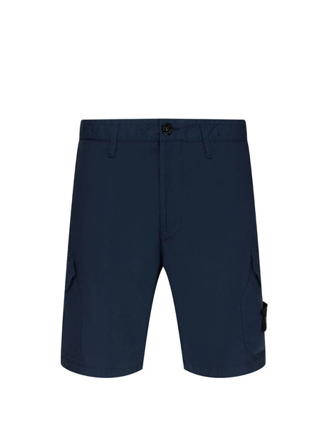 Stone Island Men's Giulio Fashion Navy Blue L0403 Bermuda Shorts  7215L0403 V0028