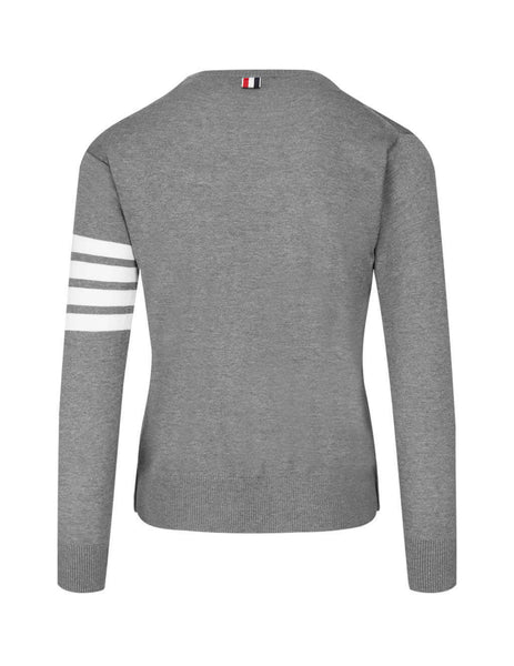 Thom Browne Men's Giulio Fashion Grey 4 Bar Pullover MKA002A00014038