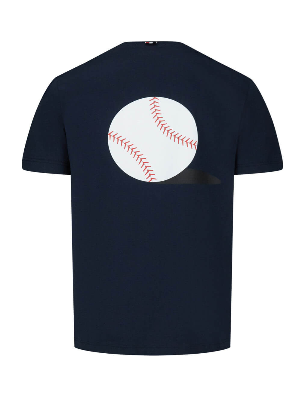Men's Navy Thom Browne Relaxed Baseball Icon Print Tee MJS111A01454415