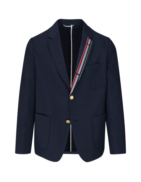 Thom Browne Men's Giulio Fashion Navy Sack Sport Coat MJU505A06147415