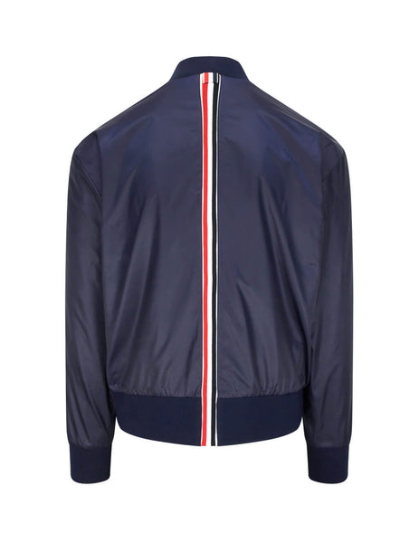 Thom Browne Men's Navy Stripe Ripstop Bomber Jacket MJT171A03215415