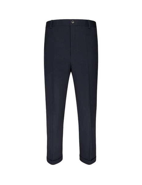 "Thom Browne Men's Giulio Fashion Navy 1"" Cuff Cavalary Chinos MTU275A04904415"