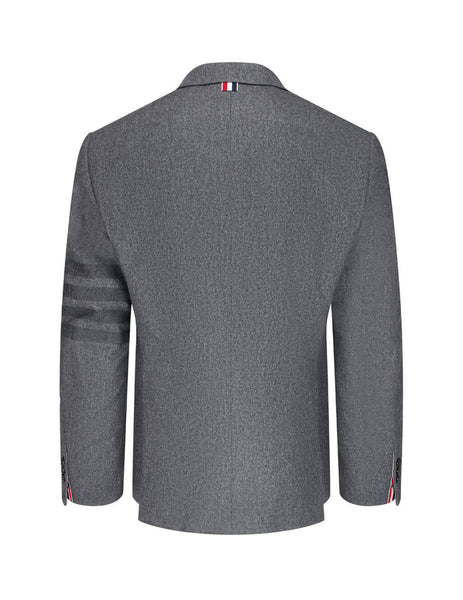 Men's Thom Browne 4 Bar Engineered Blazer in Medium Grey. MJC001A06393035