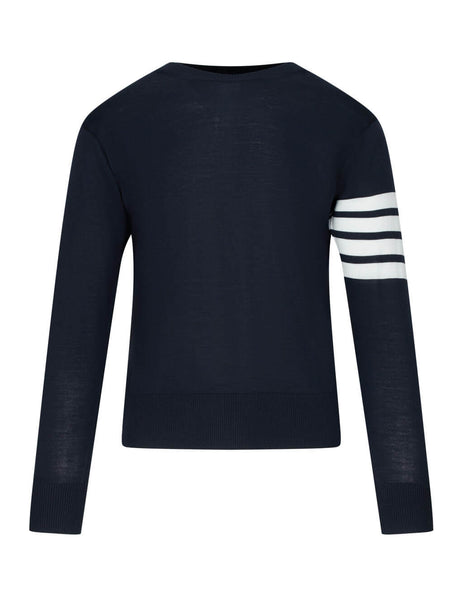 Thom Browne Men's Giulio Fashion Navy 4 Bar Pullover MKA002A00014415