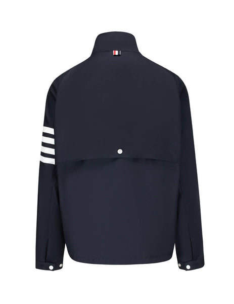 Thom Browne Men's Giulio Fashion Navy Double-Zip Raglan Jacket MJO096A00626415