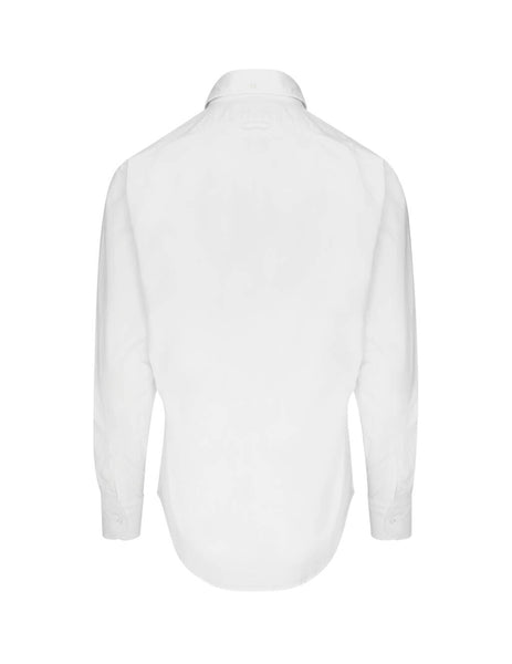 Thom Browne Men's Giulio Fashion White Grosgrain Placket Oxford Shirt MWL010E00139100