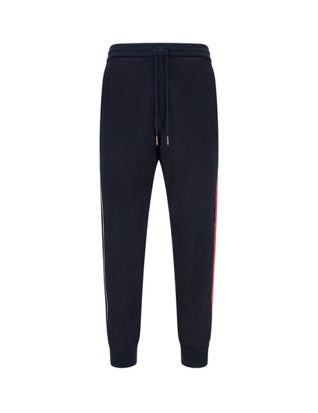 Men's Navy Thom Browne Interlocking RWB Stripe Track Pants MJQ091A06168415