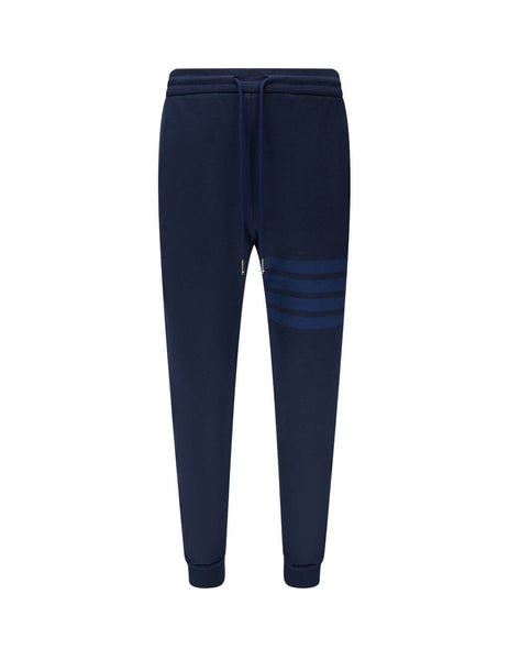 Men's Thom Browne Loopback 4-Bar Sweatpants in Navy Blue - MJQ008A06910415