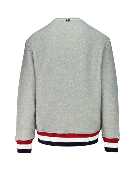 Thom Browne Men's Giulio Fashion Light Grey Loopback Pullover MJT184A05401055