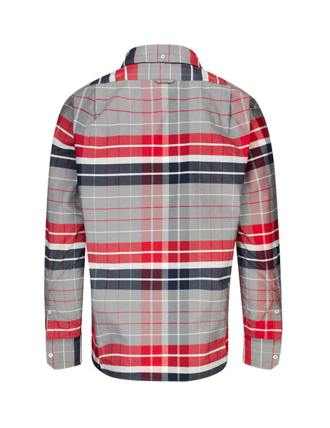Thom Browne Men's Giulio Fashion Red Norfolk Pocket RWB Stripe Shirt MWL303A05227960