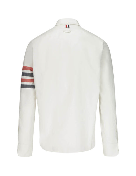 Thom Browne Men's Giulio Fashion White Norfolk Pocket RWB Stripe Shirt MWL303A05245100