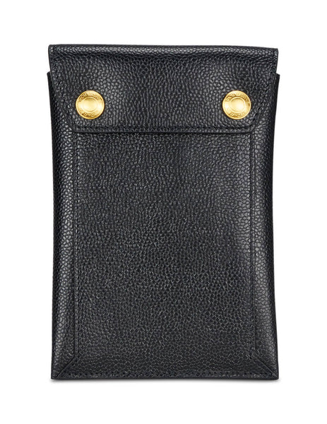 Thom Browne Men's Giulio Fashion Black Pebbled Phone Holder MAG172A00198001