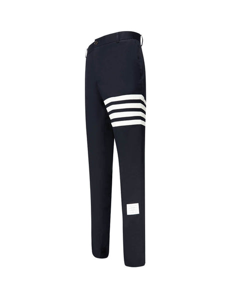 Thom Browne Men's Giulio Fashion Navy Seamed 4-Bar Stripe Chino Trousers MTU245A03788415