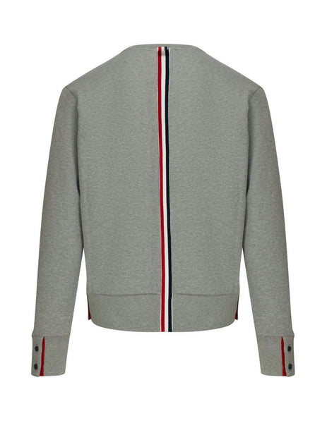 Thom Browne Men's Giulio Fashion Grey Stripe Jersey Pullover MJT085A03377055