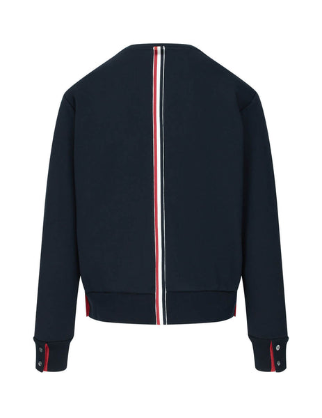 Thom Browne Men's Giulio Fashion Navy Stripe Jersey Pullover MJT085A03377415