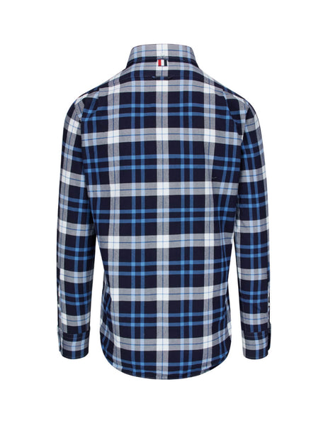 Thom Browne Men's Giulio Fashion Navy Tartan Shirt MWL272A05746415