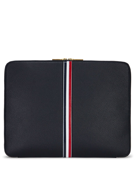 Thom Browne Men's Giulio Fashion Black Tri-Colour Document Wallet MAC070A00713001