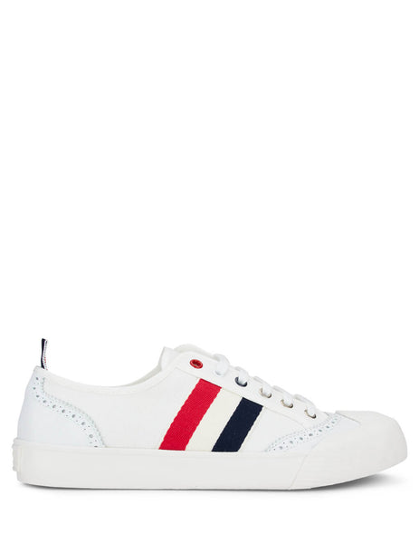 Thom Browne Men's White Vulcanized Brogue Sneakers MFD140A01588100