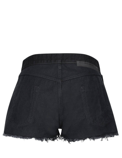Unravel Project Women's Giulio Fashion Black Denim Reverse Shorts UWYC008F19DEN0011000