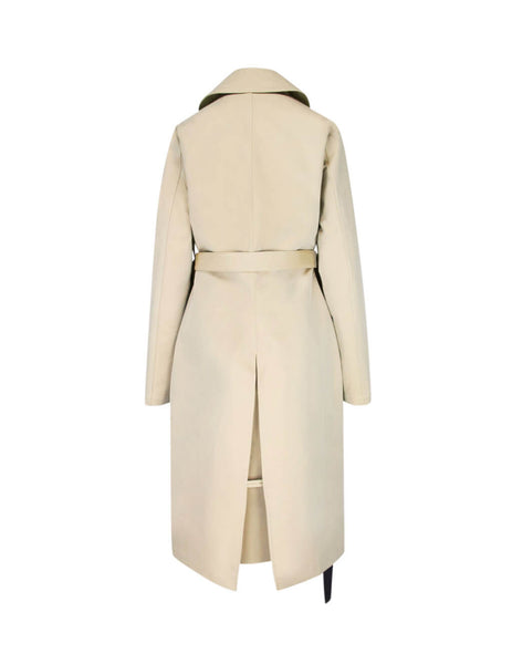 Unravel Project Women's Giulio Fashion Beige Double Mac Trench UWEA104F19FAB0024860