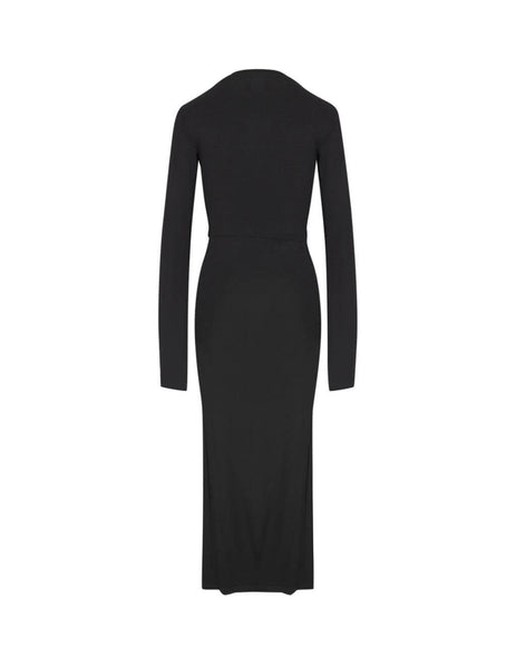Unravel Project Women's Giulio Fashion Black Twist Open Sleeve Dress UWDB121F19JER0011000