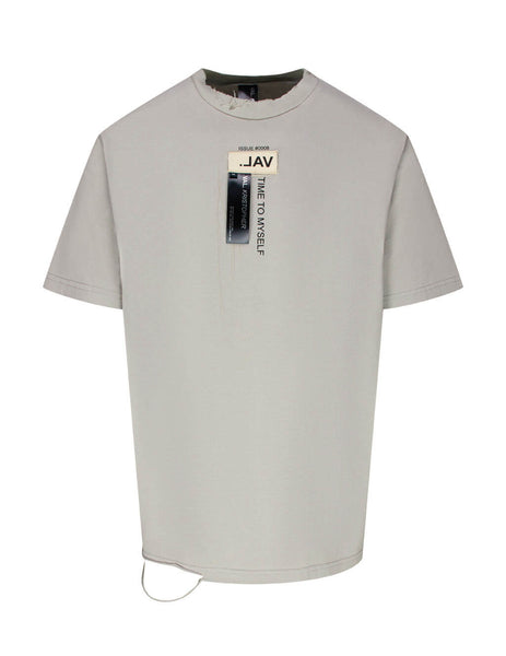 VAL KRISTOPHER Men's Giulio Fashion Grey Issue 0008 Logo T-Shirt 1000810