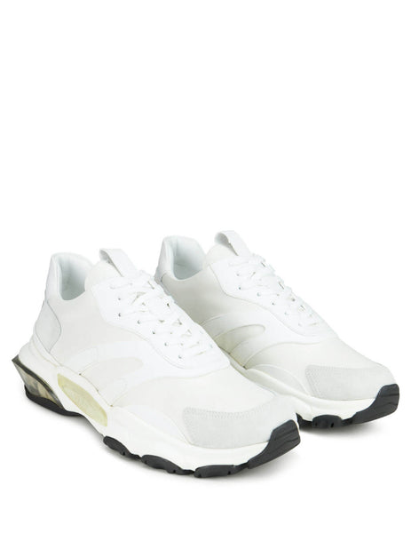 Valentino Men's Giulio Fashion White Bounce Leather Sneakers SY2S0B05HKU0BO