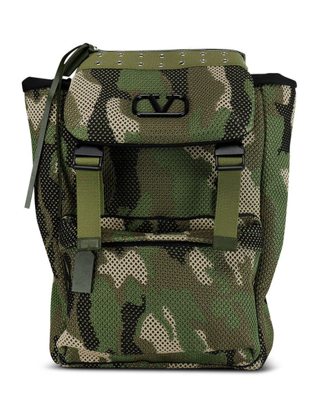 Men's Valentino Camouflage Mesh Fabric Backpack TY2B0903XCCY28