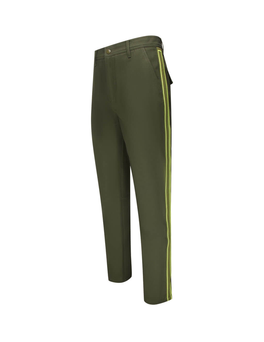 Men's Military Green Valentino Knitted Band Trousers UV3RBF456ET825