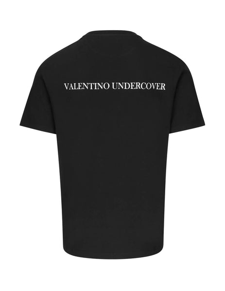 Valentino Men's Giulio Fashion Black V Face Rose Print T-Shirt SV0MG04A5RBAR9