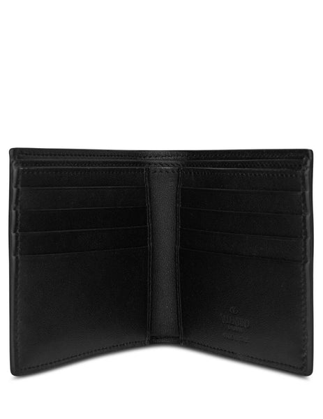 Valentino Men's Giulio Fashion Black VLOGO Billfold Wallet TY2P0445ZQU 0NO