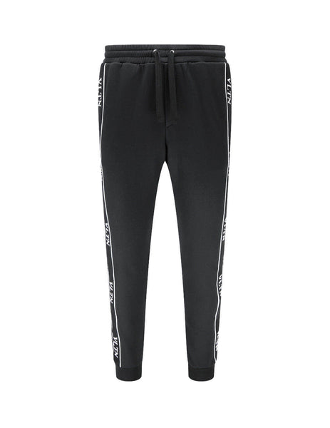 Men's Black Valentino VLTN Jersey Sweatpants UV3MD02J6LP0NO